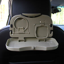 Folding Table Car Back Seat Storage Tidy Organiser DVD Laptop Holder Tray Travel