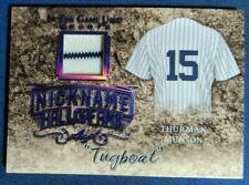 2019 ITG Used Sports The Nickname Hall of Fame Memorabilia Purple Thurman Munson