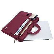 MacBook Air 13 Shoulder Bag Sleeve Case Durable Zippered Casual Handbag Wine Red