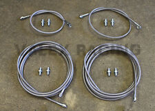Stainless Main Front & Rear Brake Line Replacement Kit for 96-00 Honda Civic EK