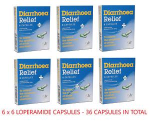 36 Diarrhoea Relief 2mg Capsules Loperamide Hydrochloride