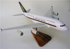 A-380 Singapore Airlines Airbus Airplane Mahogany Wood Model Large New