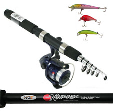 NGT Namazu Mini Telescopic 5FT Travel Fishing Rod + Reel Combo only 31cm Closed