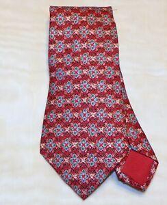 HERMES [ PARIS] [ 7675 TA ] men's tie 100% Silk  Made in France