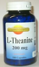 L-Theanine 200mg High Potency Large Bottle 180 Capsules Stress Relief! Fresh!