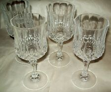 Cristal d'Arques 4 Longchamp 25 cl = 8-1/2 oz. Wine Glasses/No Box