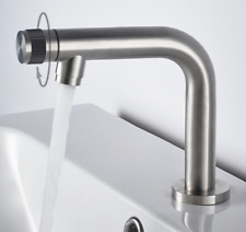 Stainless Steel Brushed Single Handle Bathroom Tap Cold Faucet for Vanity Sink