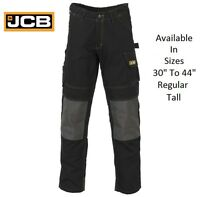 Mens JCB CHEADLE PRO Cargo Work Heavy Duty Trousers Pants Knee Pad Pockets Size