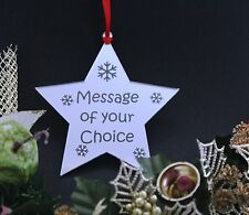 Personalised Christmas Star Decoration Gift Mirror **FREE GIFT BAG**