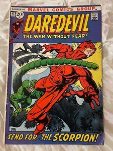 DAREDEVIL #82, marvel comics group. Scorpion app. Super heroes, no DC