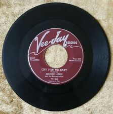"ELMORE JAMES Cry For Me Baby/Take Me Where You Go 7"" Blues 45RPM, VEE-JAY VJ 269"
