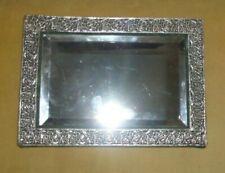 Antique Sterling Silver Frame Stand-Up Vanity Mirror David & Lionel Spiers 1888