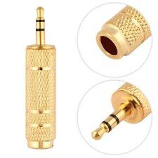 1pc 3.5mm maschio a 6.5mm Spina Femmina Convertitore Adattatore Audio Stereo per Cuffie