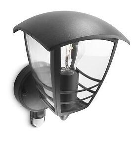 Philips Lampe De Extérieur Lanterne Applique Mural Capteur Mouvement Nouveauté