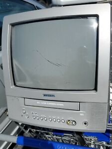 """Toshiba MV13N2W 13"""" CRT TV VCR VHS Tape Player Combo Gaming TESTED - No Remote"""