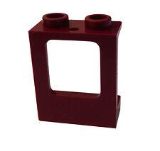 Lego 10 Stück Fenster in dunkelrot (dark red) 1x2x2 City Basics 60032 Window Neu
