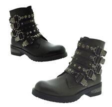Tronchetti scarpe donna con le borchie stivaletti scarponcini fibbie e strass