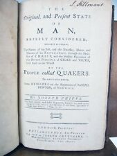 The Original and Present State of Man by People called Quakers 1783 London