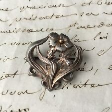 Broche Ancienne en Argent Époque Art Nouveau 1900 Jugendstil Solid Silver Brooch