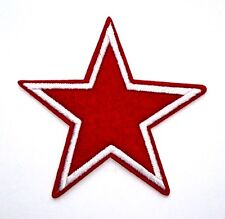 Red Star Patch Embroidered Iron Sew On Applique Badge Motif USSR Russia China