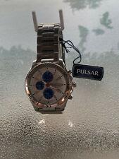 PULSAR POWER EQUIPMENT 7T62-X129 Mineral Crystal Alarm Chronograph 1/5