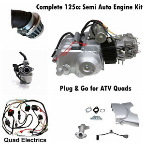 125cc Semi Auto Engine Complete Wiring Loom Carby Air Filter ATV Quad Bike Buggy