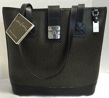 NWT~Dooney & Bourke~Black/Yellow*Cabrio* Leather Bucket Bag Purse Shoulder Bag