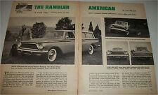 1961 AMC Rambler American car article  Tom McCahill Test