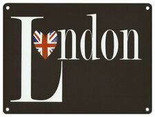 I LOVE LONDON - UNION JACK FLAG HEART ENGLAND BRITAIN METAL PLAQUE TIN SIGN 1102