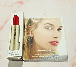 BNIB BareMinerals Mineralist Hydra Smoothing Lipstick Courage red mini 1.8g