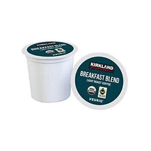 Kirkland Signature Organic Breakfast Blend Light-Roast Coffee, 84 K-Cup Pods