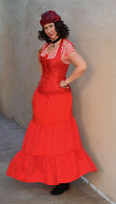 RENAISSANCE MEDIEVAL PIRATE WENCH SKIRT SZ S HALLOWEEN COSPLAY RED
