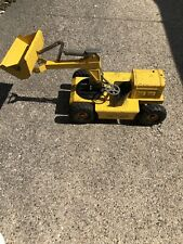 "Vintage Nylint Pettibone Yellow Pressed Steel Swinging Front Loader 18"" 1950's"