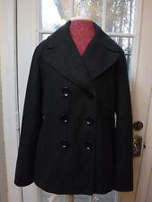 Michael Kors Dark Gray Wool Blend Double Button Up Long Sleeve Peacoat*Women XL*