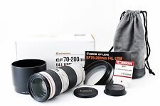 (#3411) Canon EF 70-200 mm F/4 L USM Lens w/ Box Excellent+++ from Tokyo