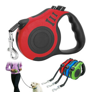 3M 5M Retractable Dog Automatic Multifunction Pet Leash Rope Extending Lead ABS