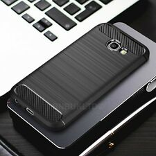 For Samsung Galaxy A5 (2017)  Carbon Fibre Gel Case Cover Ultra Slim Shockproof