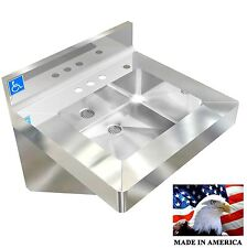 """ADA HAND SINK 20X19"""" VANDAL RESISTANT NSF HEAVY DUTY STAINLESS STEEL MADE IN USA"""