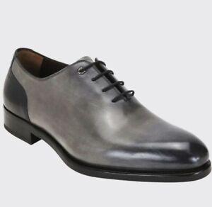Salvatore Ferragamo Barclay Size 12 E Lace up Leather Dress Shoes Orig $1290
