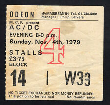 1979 AC/DC Bon Scott Def Leppard concert ticket stub London Highway To Hell 11/4