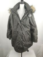 Steve Madden Womens Winter Faux Fur Trim Parka Coat Outerwear Sz.2XL