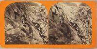Suisse Passage Del Bad Non Foto Stereo Vintage Albumina Ca 1865