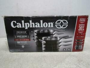 Calphalon Premier Space-Saving Hard Anodized Non-Stick 10-piece Cookware Set