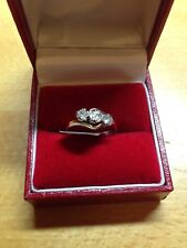 Vintage Diamond 3 Stone Ring in size J