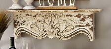 Wood Wall Shelf Indoor Antique Style Home Décor Carved Vintage Floating Shelf