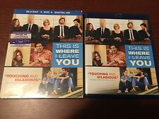 This Is Where I Leave You (Blu-ray/DVD, 2014, 2-Disc Set, Includes slipcover)