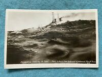 U.S. Navy Ship, The Delaware laboring in the seas, Vintage Postcard