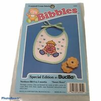 Bucilla Bibbles Special Edition Counted Cross Stitch Baby Bib Sweet Heart