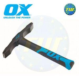 OX 28oz Double End Scutch Hammer Bricklayers Stone Masons Brick Tools T085028