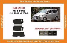 pellicola oscurante vetri dahiatsu yry 5 p dal 2001 al 2004 kit posteriore